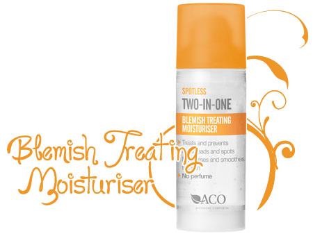 aco spotless blemish treating moisturiser